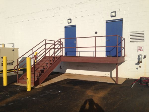 Galvanized Stair And Railings For Platform